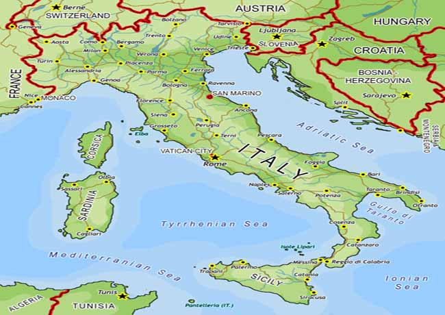 Pictures of Apennine Peninsula Map - #rock-cafe